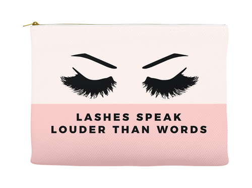 Fun, Funny, Stylish Louder Than Words Makeup Pouch, Make-Up Bag, Gift