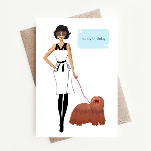 Crazy Talk Birthday Greeting Card