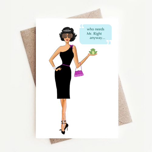 Stylish and Fun Mr Right Birthday Greeting Card