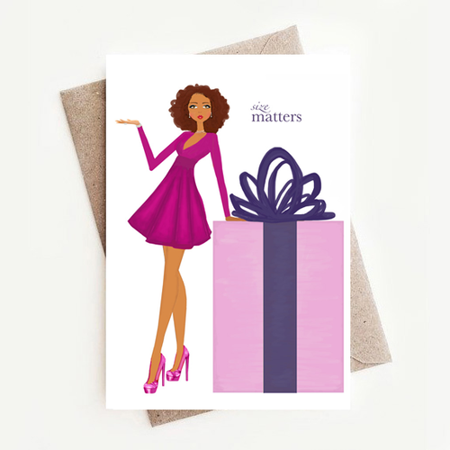 Fun and Stylish Size Matters Birthday Greeting Card