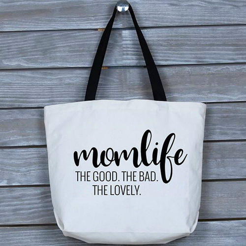Funny Good, Bad and Lovely Mom Life Tote Bag, Gift for Mom, Mothers