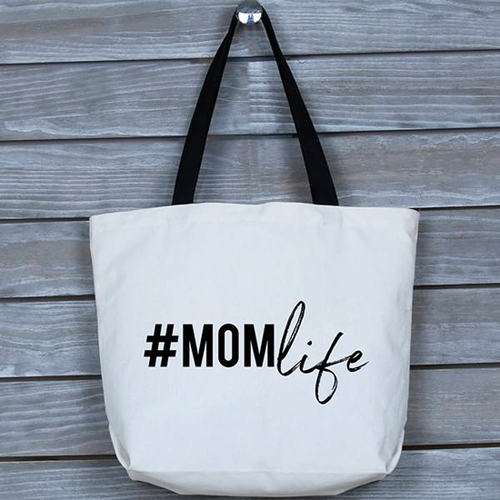 Fun, Funny, Stylish, Mom Life Tote Bag | Great Gift for Mothers