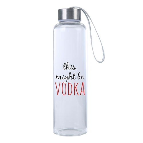 Fun, Funny Might Be Vodka Hydro Water Bottle, Travel Tumbler Gift