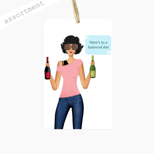 Fun, Funny, Unique Quotable Wine Gift Tag Assortment