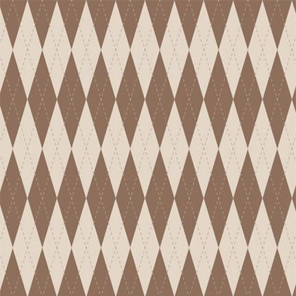Argyle Photo Backdrop - Brown