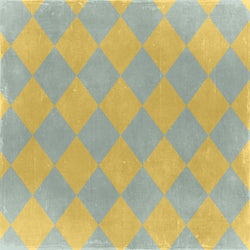 Argyle Photo Backdrop - Gray and Yellow Diamonds
