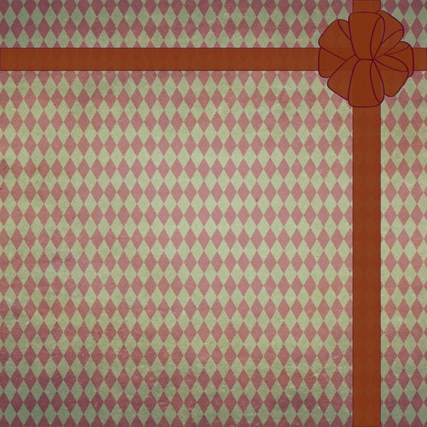 Argyle Backdrop Holiday Distressed with Bow