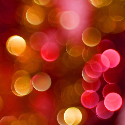 Bokeh Photo Backdrop - Red Holiday Cheer