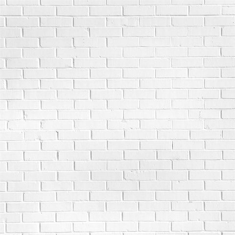 Brick Backdrop Floordrop Cloud White