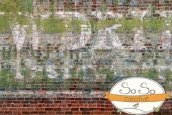 Brick Photo Backdrop - Restaurant Graffiti