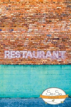 Brick Photo Backdrop - Restaurant Love Backdrops Loran Hygema