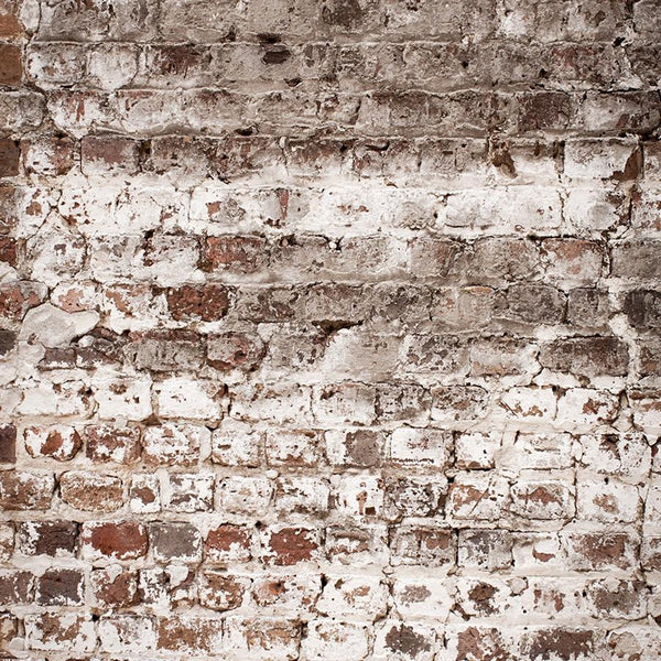 Brick Photo Backdrop - Warm Whitewash Vertical