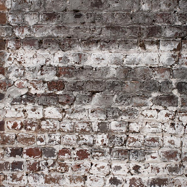 Brick Photo Backdrop - Whitewash Vertical