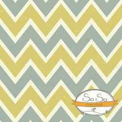 Chevron Photo Backdrop Gray and Mustard