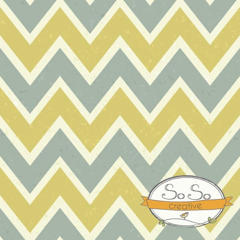 Chevron Backdrop Gray and Mustard