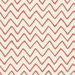 Chevron Photo Backdrop - Les Fauves Coral on Cream