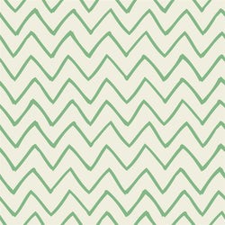 Chevron Photo Backdrop - Les Fauves Green on Cream