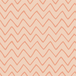 Chevron Photo Backdrop - Les Fauves Peach on Peach