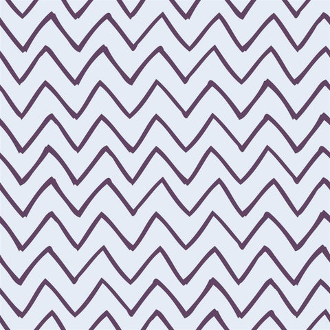 Chevron Backdrop Les Fauves Purple on Blue