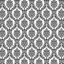 Damask Backdrop Black and White