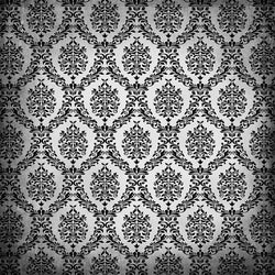Damask Backdrop Black and White Grunge