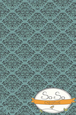 Damask Diva Photo Backdrop - Black & Green Backdrops SoSo Creative