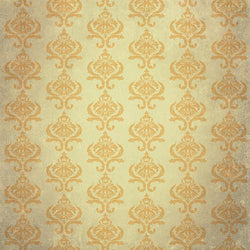 Damask Diva Photo Backdrop - Cream & Orange Backdrops SoSo Creative