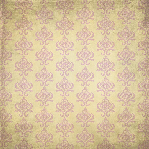 Damask Diva Photo Backdrop - Cream & Pink