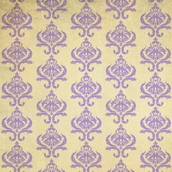 Damask Diva Photo Backdrop - Cream & Violet Backdrops SoSo Creative