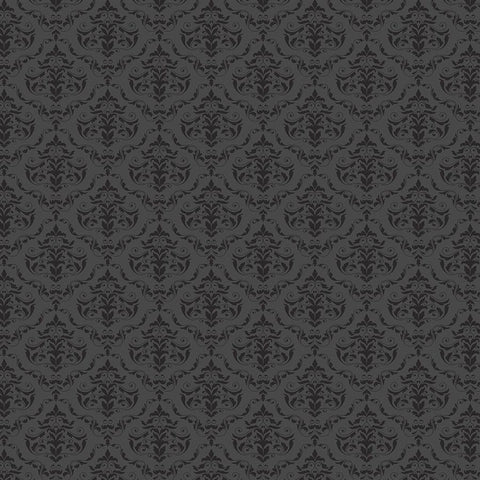 Damask Diva Photo Backdrop - Gray & Black
