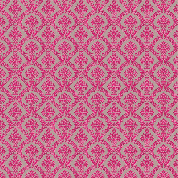 Damask Diva Photo Backdrop - Gray and Pink