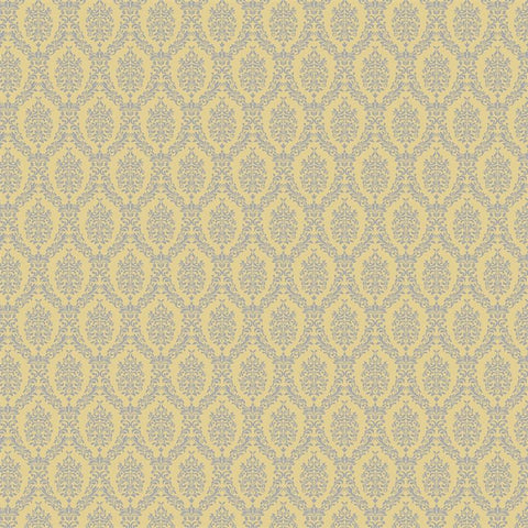 Damask Diva Photo Backdrop - Yellow & Gray