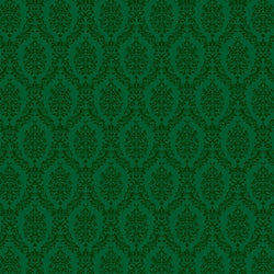 Damask Backdrop Green