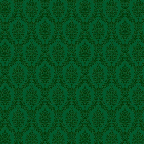 Damask Photo Backdrop - Green