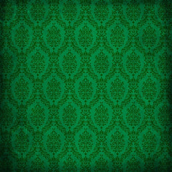 Damask Backdrop Green Grunge