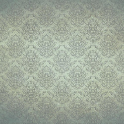 Damask Photo Backdrop - Hand Drawn Aqua