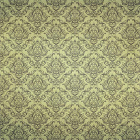 Damask Backdrop Hand Drawn Green