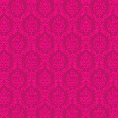 Damask Backdrop Hot Hot Pink