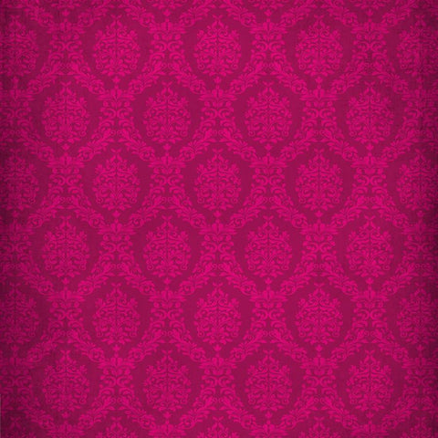 Damask Photo Backdrop - Hot Hot Pink Grunge