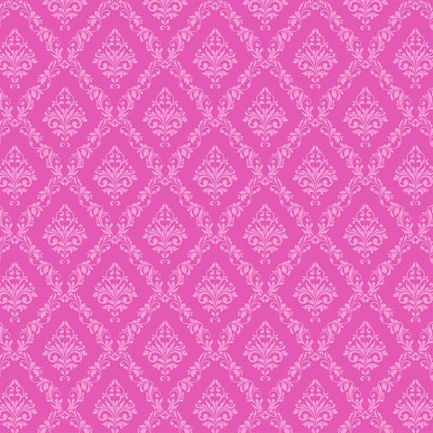 Damask Backdrop Hot Pink