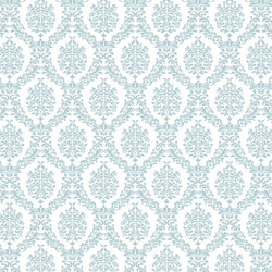 Damask Backdrop Light Blue and White