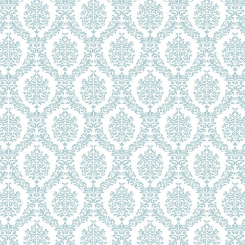 Damask Photo Backdrop - Light Blue and White