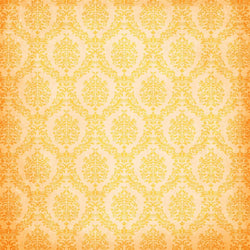 Damask Backdrop Light Orange Grunge