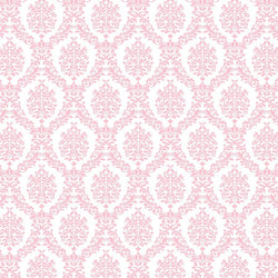 Damask Backdrop Light Pink and White