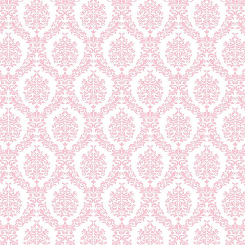 Damask Photo Backdrop - Light Pink and White