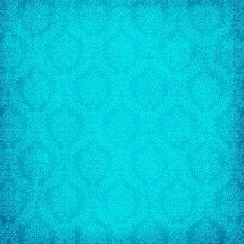 Damask Photo Backdrop - Lovely Blue Grunge Backdrops SoSo Creative