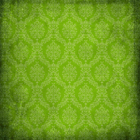 Olive Grunge Damask Photo Backdrop