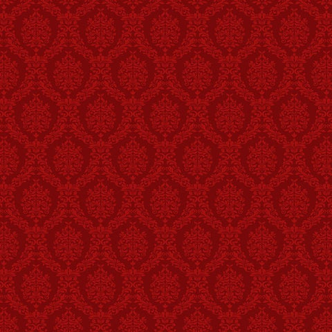 Damask Photo Backdrop - Red