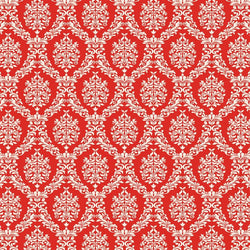 Damask Photo Backdrop - Red and White Valentine