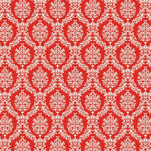 Damask Backdrop Red and White Valentine